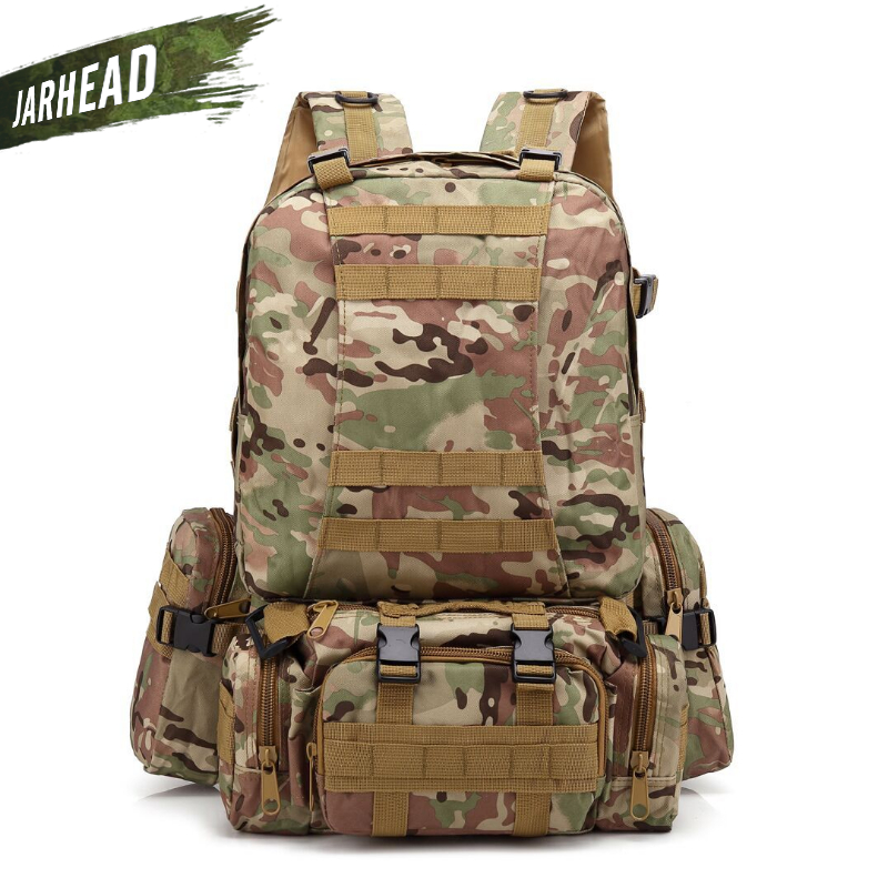 Outdoor Waterproof Tactical Camouflage Backpack Men Women Army Military Hiking Trekking Rucksack 600D Camping Climbing Sport Bag sports travel airsoft tactical knapsack camping climbing backpack 600d nylon hiking hunting vintage military bag camouflage