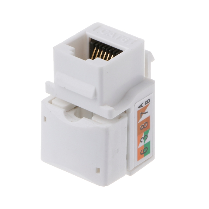 CAT6 Network Module Information Socket RJ45 Connector Adapter Keystone Jack