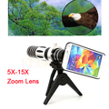 2017 5X-15X Zoom Óptico de Lentes de Cámara Del Teléfono Móvil Lente Del Telescopio con Trípode casos para iphone 4 4s 5 5s se 6 6 s 7 plus samsung