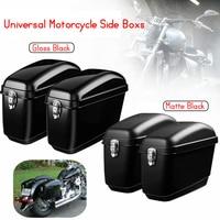 Pair 30L Large Motorcycle Saddle Bags Side Boxs Luggage Tank Hard Case For Harley Cruisers For Kawasaki for Honda