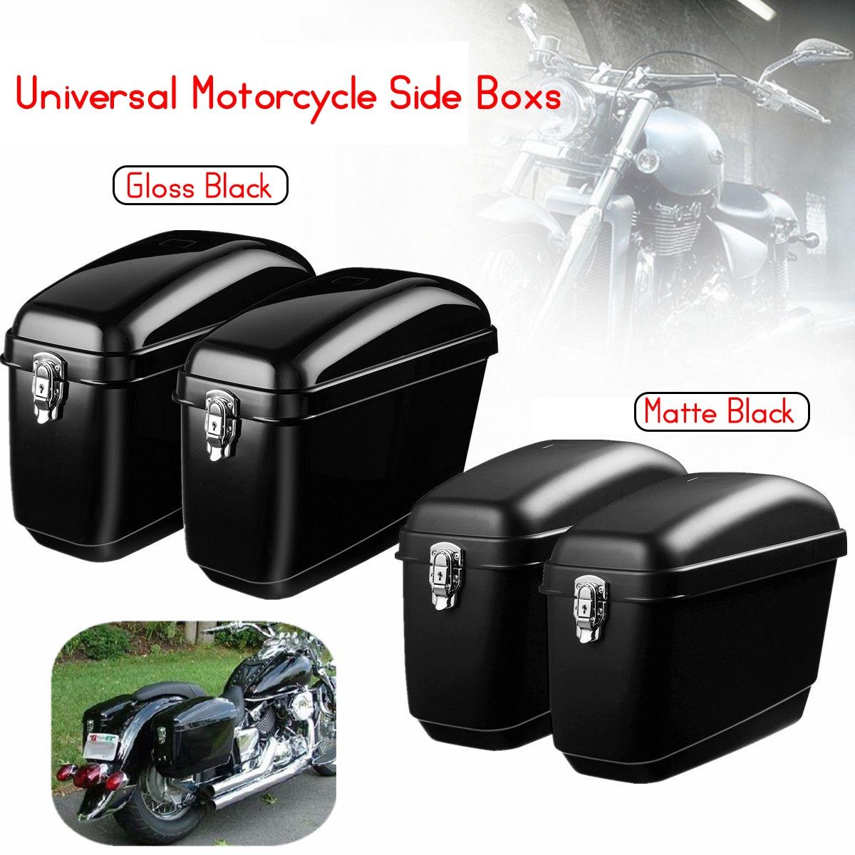 Par 30L Grandes Sacos de Motocicleta Sela Lateral Boxs Tanque de Bagagem Caso Difícil Para Harley Cruisers Kawasaki para Honda