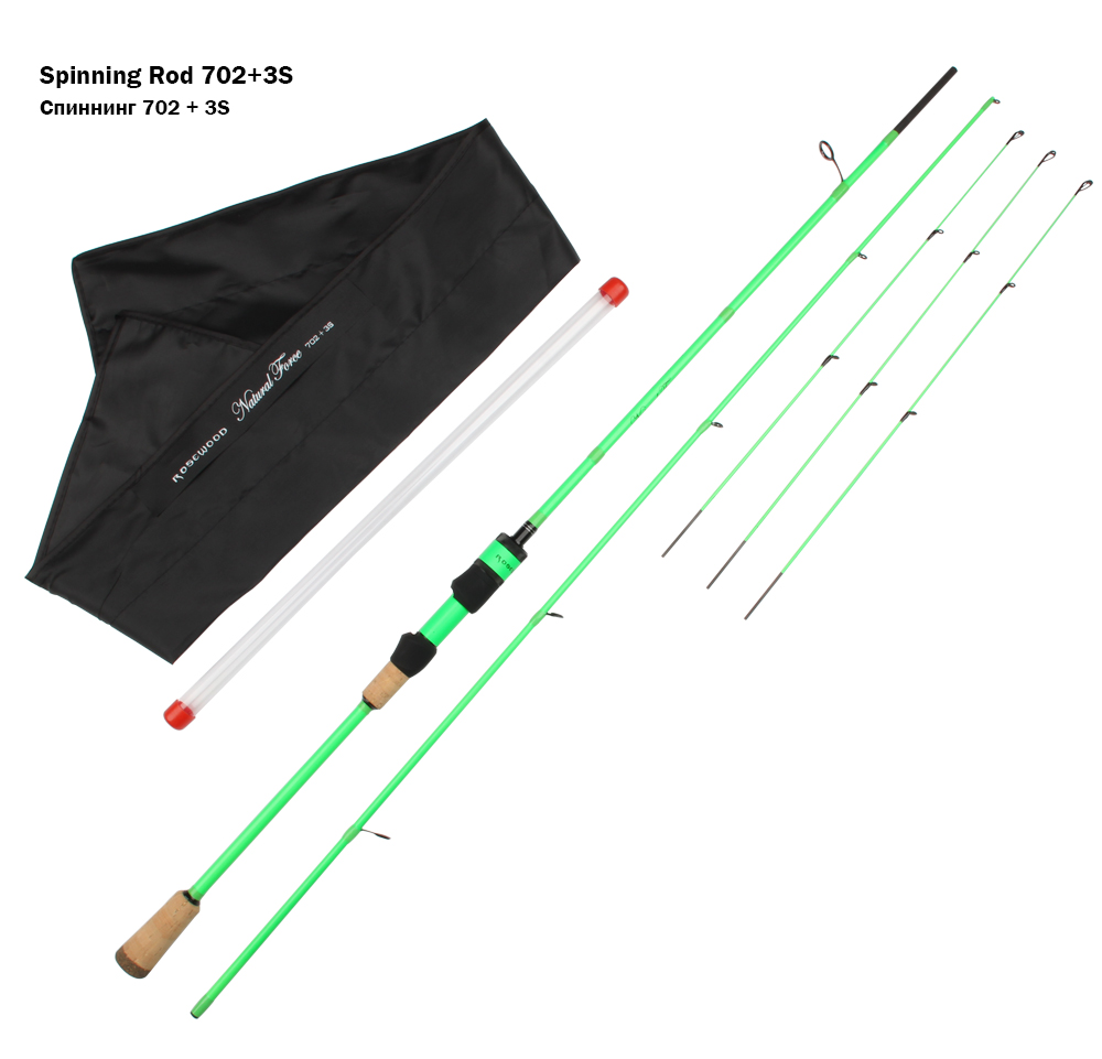 RoseWood Natural Force Series 2.1m High Carbon Cloth Fishing Rod 3 Tips L ML Medium Spinning Rod Casting Lure Rod 2 Sections  (9)
