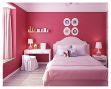 beibehang Classic fashion 8 color classic wall paper warm bedroom full of solid nonwoven long-fiber wallpaper papier peint