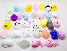 TSMIYOO 10pc / Lot forskellige modeller Ushihito Mochi antistress squishy legetøj Kawaii dukke Soft Sticky Stretchy Relief Legetøj Funny Gift