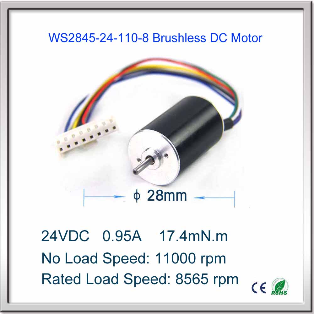 FREE SHIPPING Low power high speed 11000rpm 20W 24V DC 0.95A 0.017mN.m 28x45mm brushless DC motor Fan Micro brushless motor free shipping 1000w 36v dc brushless