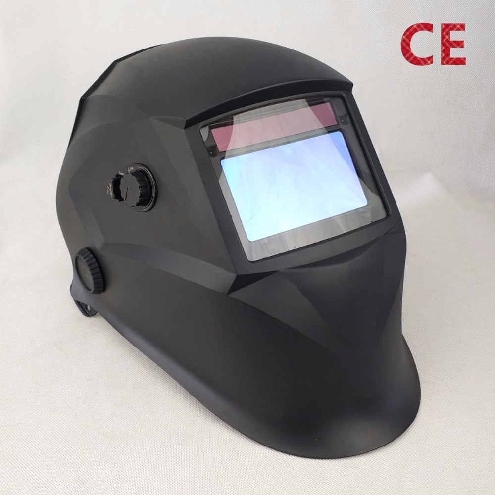 Solar Auto Darkening Welding Mask 4 Sensors Big View Size 98x55mm 3.86x2.17