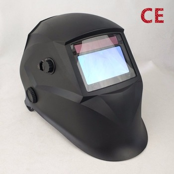 "Solar Auto Darkening Welding Mask 4 Sensors Big View Size 98x55mm 3.86x2.17"" Magnify Lens Compatible CE Aproved Welding Helmet"