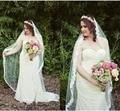 Church Wedding Lace Bridal Veils One Layer Eyelash Lace Edge White Ivory Super Long Wedding Veil Wedding Accessory Free Shipping