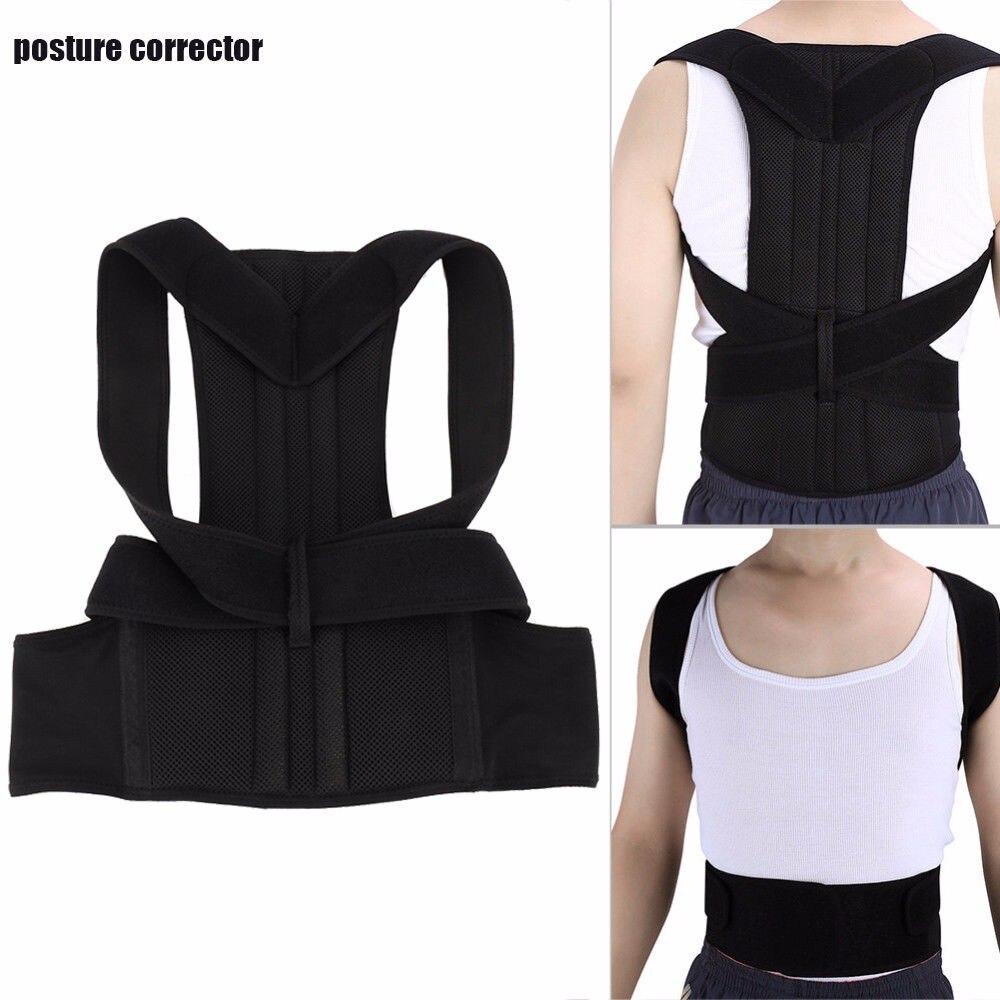 Adjustable Posture Corrector Back Support Belt Humpback Posture Corset Back Brace Support Round Shoulder Toiletry Kits