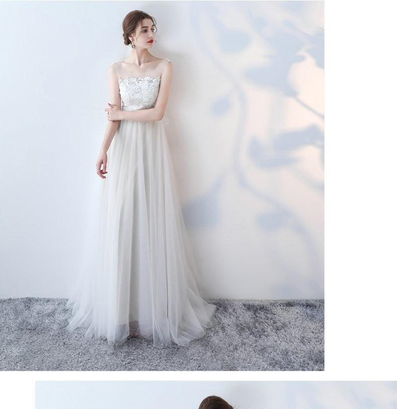 Scoop Tulle Lace Appliques Zipper A-Line Ivory Wedding Dress 1