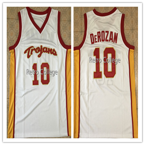416abed6a  10 Demar DeRozan USC Trojans Throwback College Mens Basketball Jersey  embroidery Stitched Custom Any name