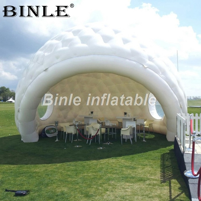 8m white inflatable dome tent giant inflatable golf tent inflatable shell tent for outdoor sport event