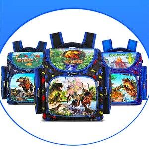 Image 4 - איכות דינוזאור מילת דפוס בית ספר שקיות Waterproof בני אורטופדי תרמילי ספר תיק ילקוט תרמיל המוצ ילה Escolar