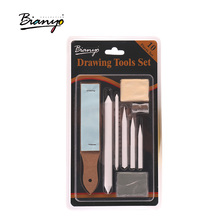 Bianyo 10pcs/set art pencils Blending Smudge Stump Stick Tortillons Sketch Art White Drawing Pencil Tools Rice Paper artist sets