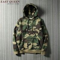 Casual Men Hoodies Sweatshirts Military Hoodie Army Green Camouflage Hoodies Long Sleeve Hip Hop Streetwear KK1696
