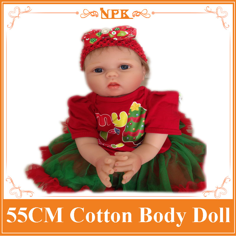 Best Quality 55cm 22inch Real Baby Dolls For Sale With Christmas Style Hair Band Hot Sell Benecas Bebes Reborn Silicone Hot Toys best new product on sale 30% 750ml brazilian keratin hair treatment hair free shipping