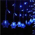 Romantic Snow Shape 4M 20Drop Line 120leds LED Curtain String Light Fairy Led String For Christmas/Window/Party/Birthday