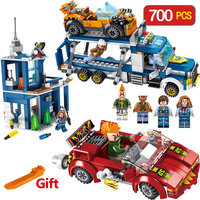 Fight For a Transport Vehicle Command Character City Police Blocks Building Bricks Enlightening Fun for Children Gift