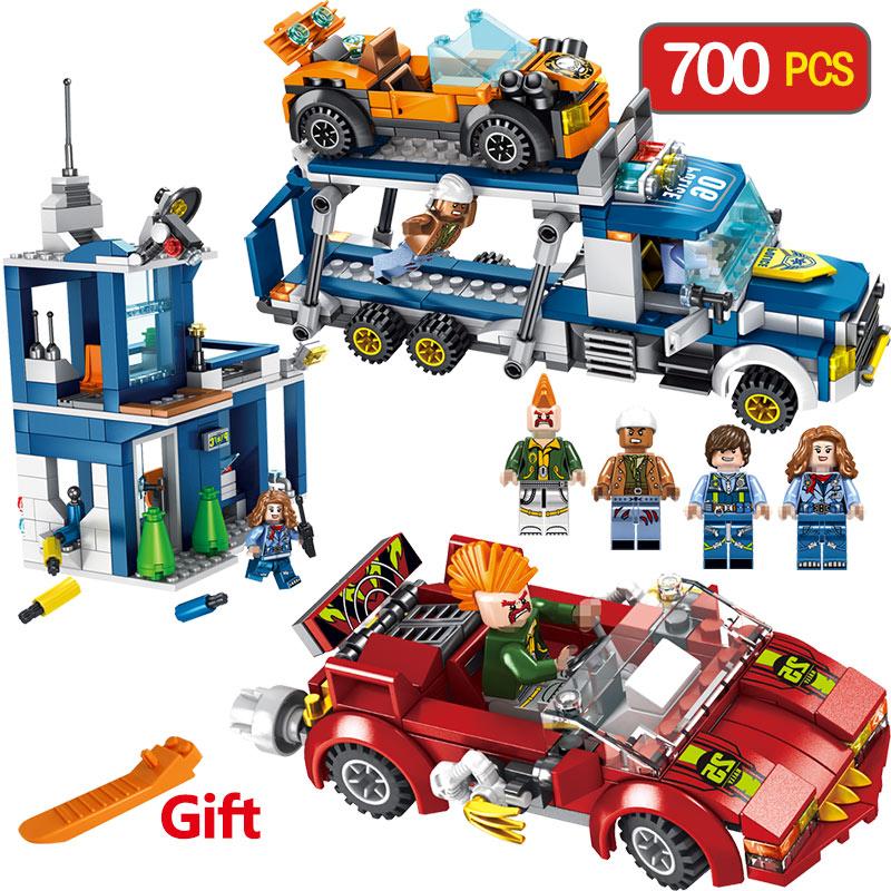 Lutte Pour un Transport Véhicule Commande LegoINGLY Caractère de Blocs de Construction en Éclairant Amusant pour les Enfants Cadeau