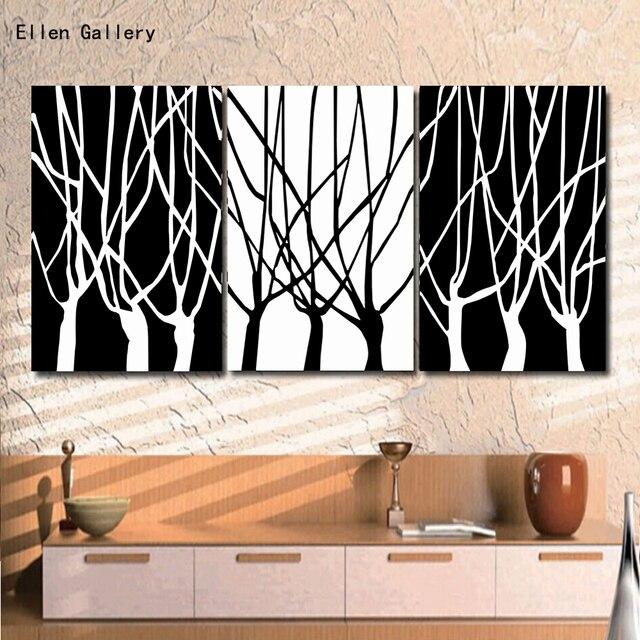 3 unids/set árbol moderno pintura cuadros de pared para sala de ...