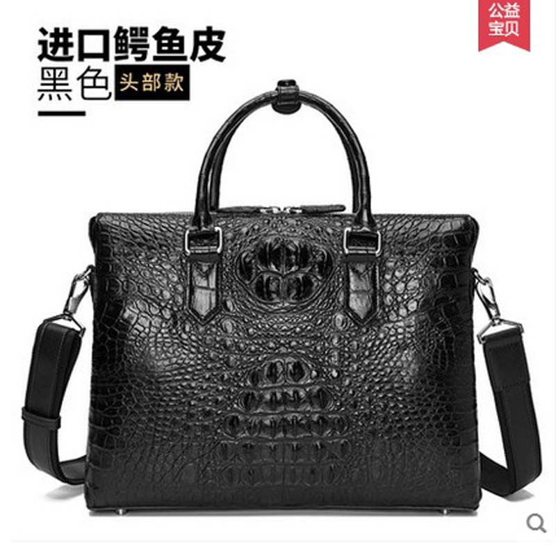 hlt Luxury crocodile handbag single shoulder bag genuine leather business man bag style high grade man щипцы hlt 10