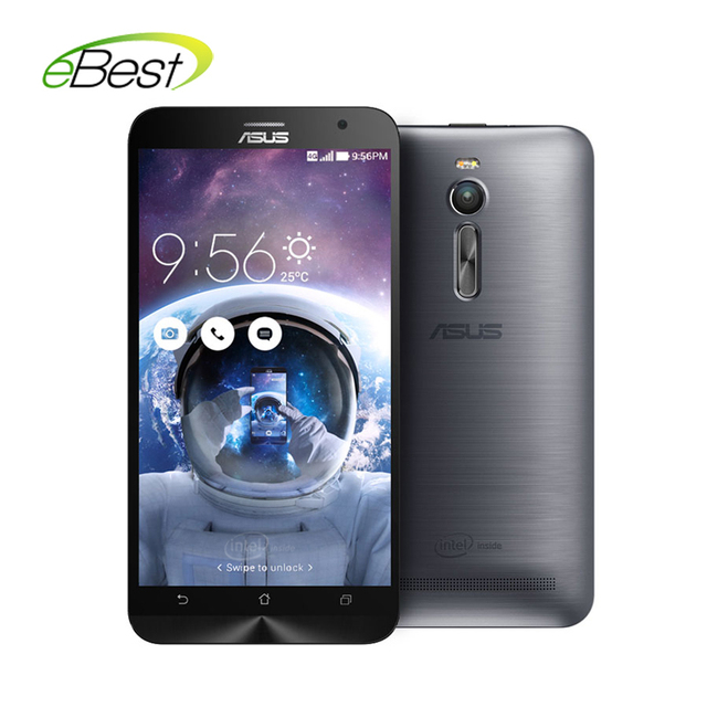 original  Asus ZenFone 2 ZE551ML mobile phone 4G FDD LTE  5.0 intel Z3560 Quad Core 1.8GHz 5.5'' NFC smart cellphones