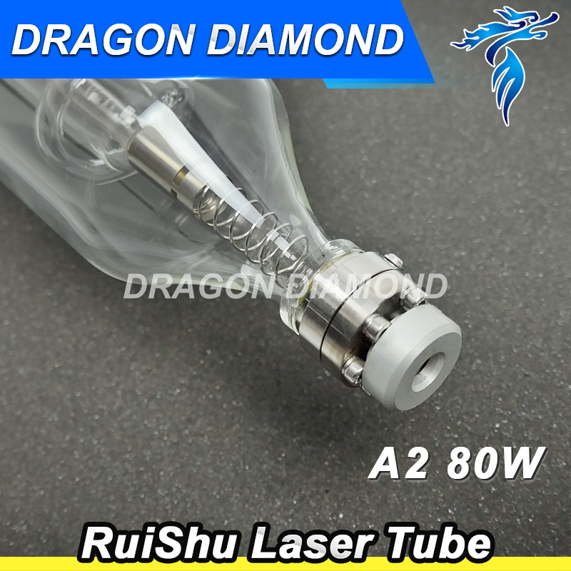 Co2 Laser Tube Metal Head 1200MM 80W Glass Pipe for CO2 Laser Engraving Cutting Machine new type co2 laser head