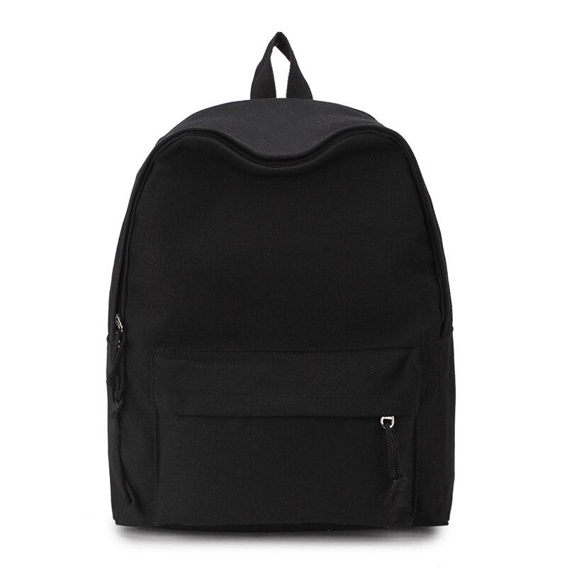 Canvas Plain Women Backpack New Japan Ring Leisure Travel Backpack For Girl Female Shoulder Bag Rucksack Mochila My Bagpack #6