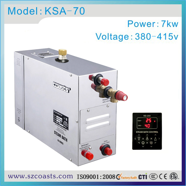 Steam room use 3 24kw stainless steel steam generator automatic ...