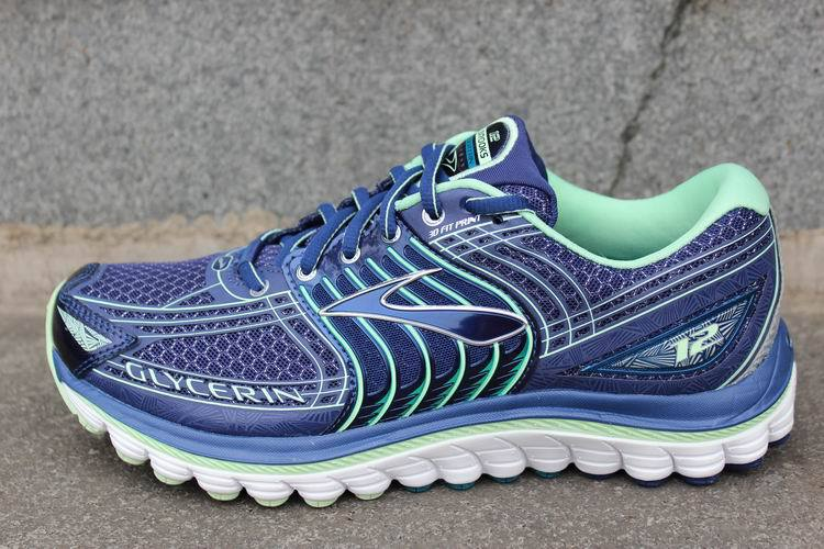 19a41467a02 Original Brooks Glycerin 12 Women s running shoes blue green Free  shipping-in Running Shoes from Sports   Entertainment on Aliexpress.com