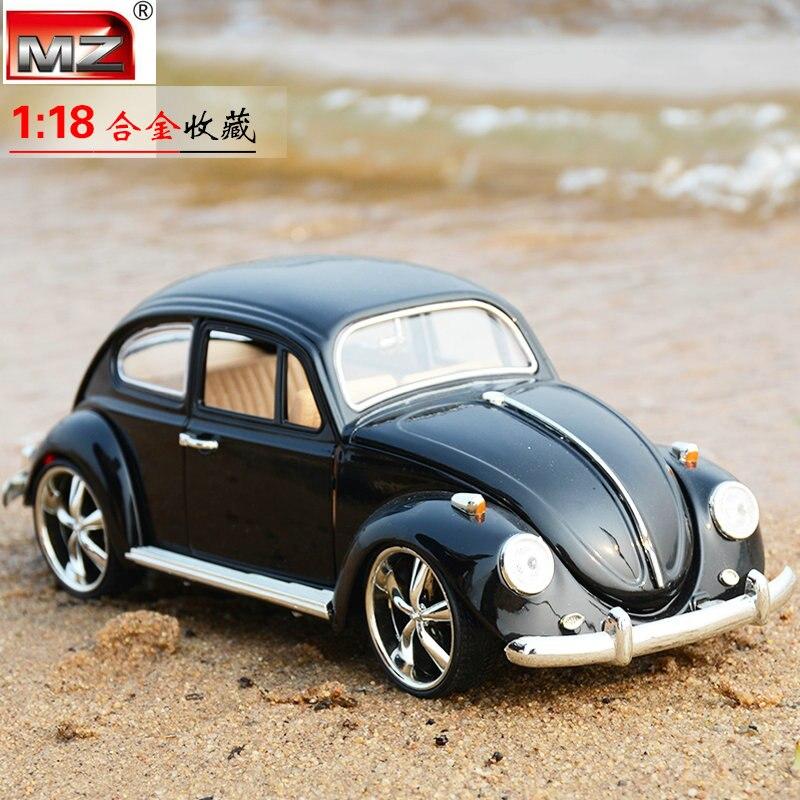1:18 morre molde modelo carros coleção vintage retro escala automóvel liga veículo gld3 coche crianças brinquedos besouro