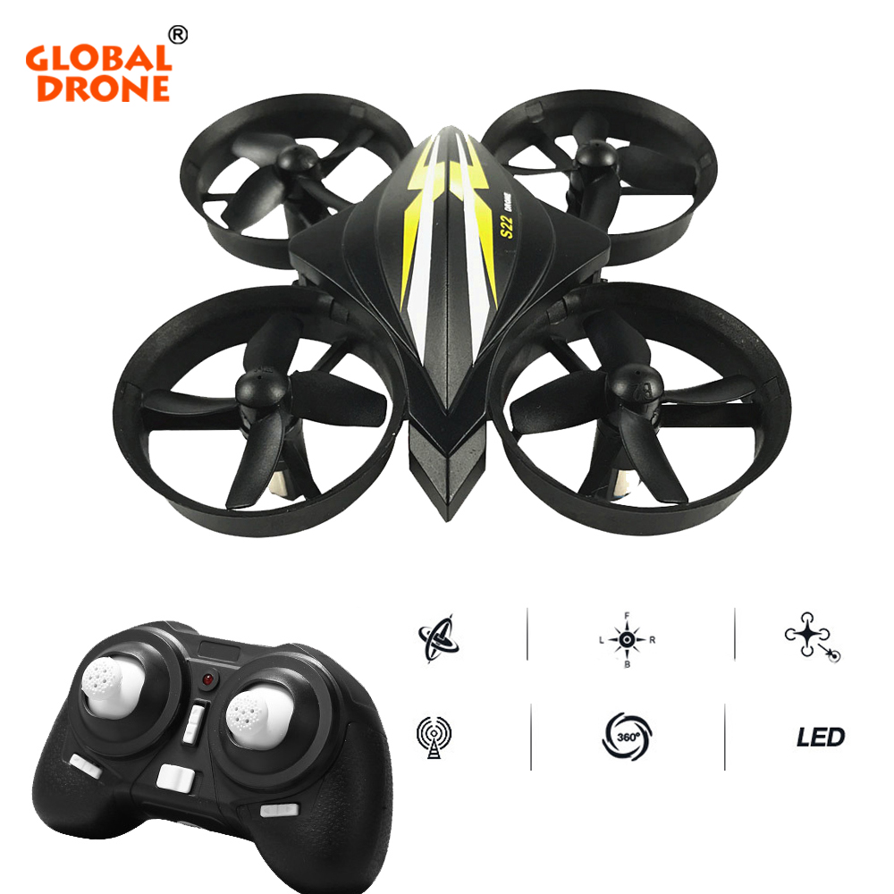 Global Drone Headless Mode Helicopter One Key Return RC Dron 2.4G 4CH 6-Axis Mini Quadrocopter VS JJRC H8 Toys For Boys kids