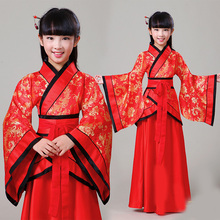 New style childrens costumes Hanfu girls fairy performance clothing photo stage