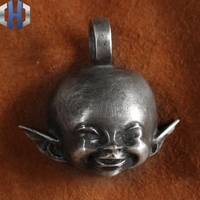 Handmade Angel Elf Men And Women 925 Sterling Silver Brass Necklace Pendant Keychain