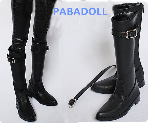 Handsome Black Army Boots for BJD Doll 1/4 1/3 SD17, Uncle SSDF Shoes SM8 accept custom european style black leather suit bjd uncle 1 3 sd ssdf doll clothes