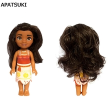 Movie Princess Moana Action Figures Doll Toys 16cm Moana Princess BJD Doll Clothes For Baby s