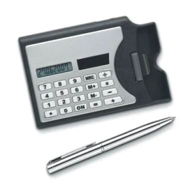 24 pcs/set - 3 in 1 Solar Powered Calculator, Pen & Business Card Holders