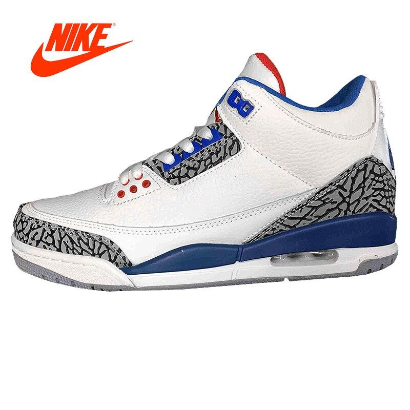 Nuovo Arrivo originale Ufficiale NIKE Air Jordan 3 Retro Uomo di Sport Scarpe Da Basket Comodo Cuscino Traspirante Sneakers Sport