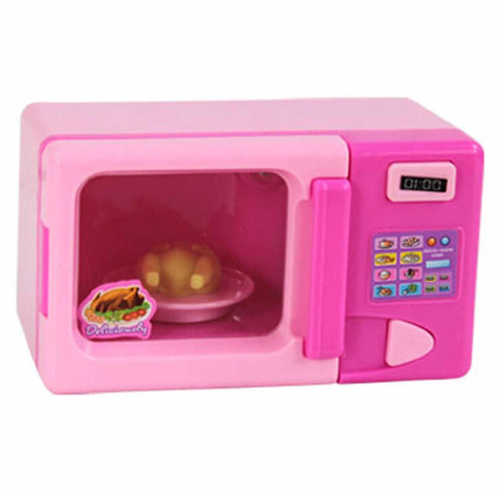 Детские игрушки для ролевых игр, мини-пластиковые моделирование, фен для волос, настольный вентилятор, бытовая техника, дети, ролевые игры Кукольный домик для девочки, розовый