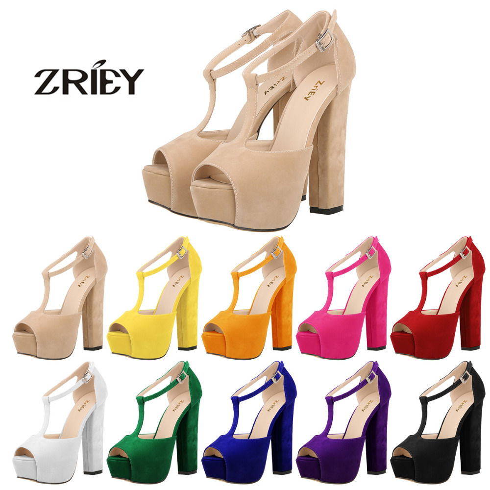 Newest Women Shoes Summer High Heel Pumps Dames Schoenen T-strap High Heels Platform Sandals Wedge Ladies Party Wedding Pumps xiaying smile summer new woman sandals platform women pumps buckle strap high square heel fashion casual flock lady women shoes