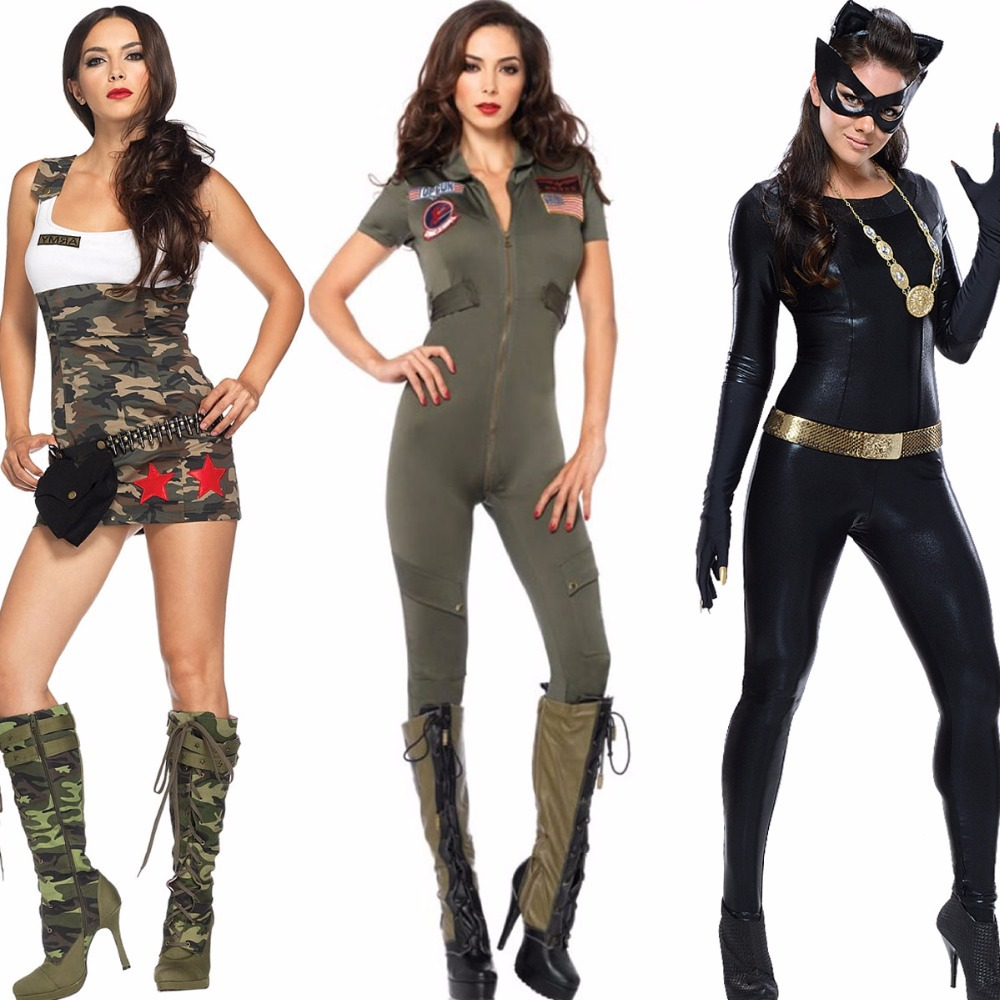 Free shipping Police Army Soldier Fancy Dress Party Costume ...