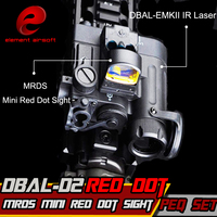 Element Airsoft Flashlight IR Laser Led Torch DBAL D2 IR Lase Multifunction Tactical IR MRDS Mini Red Dot Hunting Sight EX328