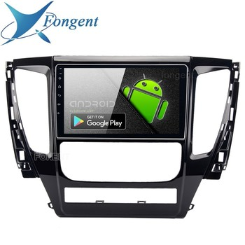 Fongent 1 Din 9 Android 9.0 Radio Car Multimedia Player For Mitsubishi Pajero Sport 2017 Bluetoot 4GB RAM HDMI 12V Stereo Audio image