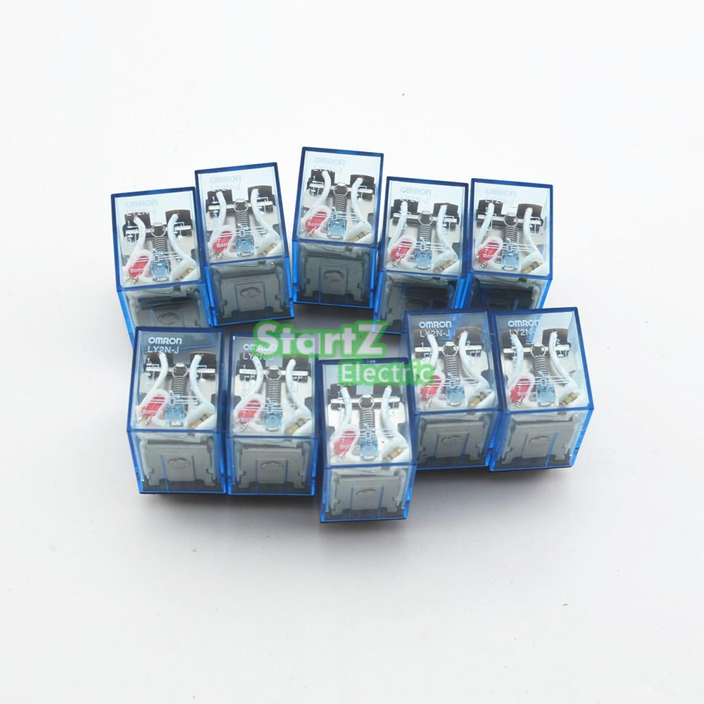 10Pcs Relay Omron LY2NJ 220/240V AC Small relay 10A 8PIN Coil DPDT цена и фото