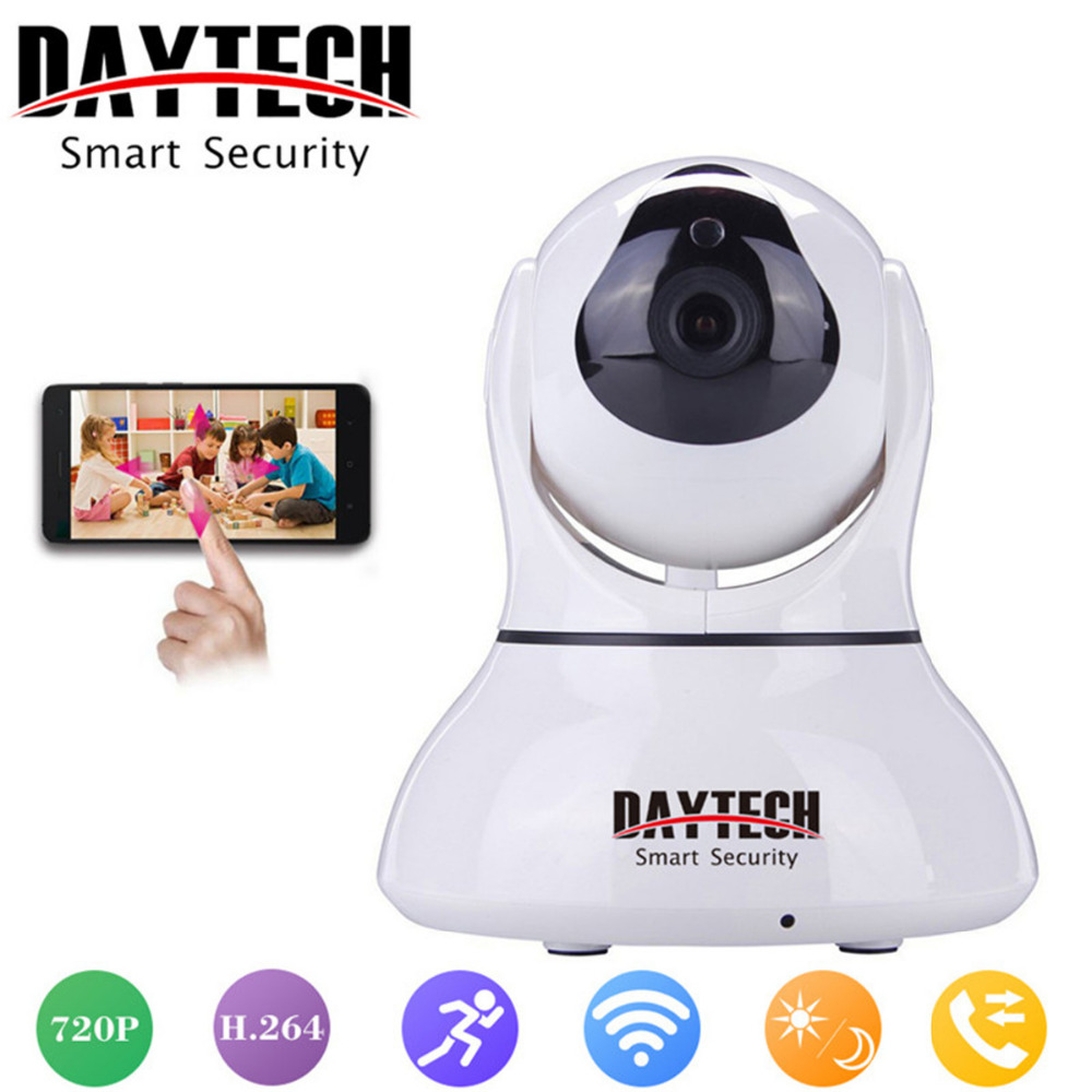 Daytech 720P Wireless Wifi IP Camera Home Security Camera Night Vision Infrared Two Way Intercom Baby Monitor Motion Detection howell wireless security hd 960p wifi ip camera p2p pan tilt motion detection video baby monitor 2 way audio and ir night vision