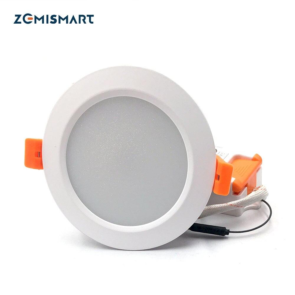 ZigBee 3.0 Smart RGBW Downlight LED Ampoule Lumière Travail avec Amazon Echo Plus Directement 12 w Éclairage Intelligent Solution