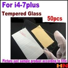50pcs Ankunft ultra premium Gehärtetem Glas screen protector für iPhone 4 4s 5 5s 5c 6 7 plus ohne einzelhandel paket