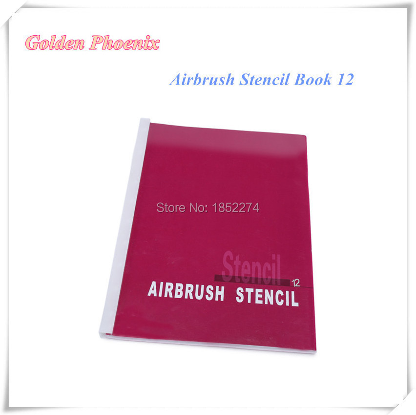 Golden Phoenix Book 12 Temporary Tattoo Stencil 100 Dragon Designs Stencil For Airbrush Body Paint Free