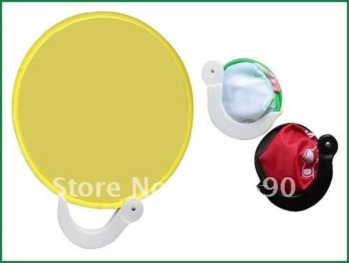 New Design Foldable Hand Fan Pop Up Nylon Frisbee