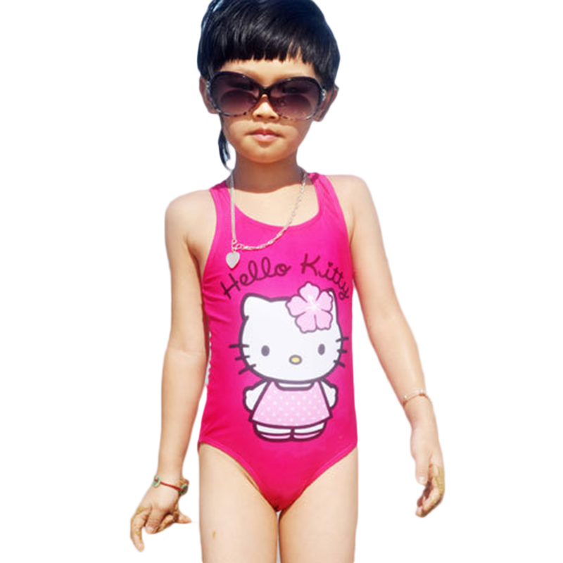 6 New NWT Hello Kitty Girls Swimming Costume One-Piece Swimsuit Blue Sizes 4 5